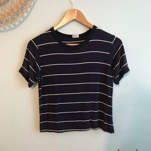 j galt/ brandy melville navy striped nadine top